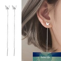 Long Tassel Butterfly Drop Earrings Silver Color Fashion Hanging Women Earrings Summer Jewelry Girls Party Gift Factory price expert design Quality Latest Style
