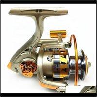 Sports en plein air Livraison 2021 Pêche Spinning Reel Spool 5Dot2: 1 12bb Boule Roulements Carp JE2000-7000 Poignée semi-métallique Mer
