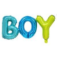 소년 소녀 알루미늄 호 일 풍선 장식 베이비 샤워 생일 파티 장식 아이 성별 공개 풍선 다채로운 편지 모양의 owe7066