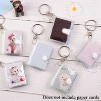 Keychain 16 Bags Jelly Colour Po Album for Mini Stier Card Holder 2 Inch rtable Key Hanger Map Bag Wholesale