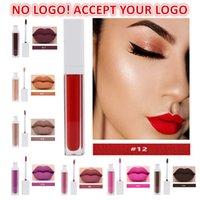 Hiçbir logo! Çıplak mat dudak parlatıcısı 20 renkler su geçirmez kadifemsi ruj uzun ömürlü sıvı lipgloss kozmetik