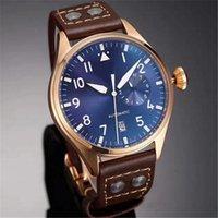Top Quality Luxury Wristwatch Big Pilot Midnight Blue Dial Automatic Men&039;s Watch 46MM Men Mens Watch Watches