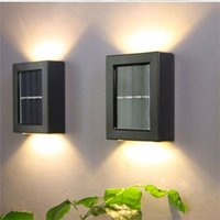 Solar Lamps 2pcs Wall Lamp For Energy Generation Recharge Built-in Battery Waterproof Fence LED Decoration Outdoor G532