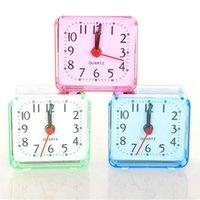 Desktop Alarma Relojes Portátil Mini Dibujos animados Viaje multifunción Cama Beep Reloj Decoración del hogar GWD5838