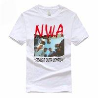 NWA مستقيم Outta Compton Euro Size 100٪ قطن تي شيرت الصيف عارضة س الرقبة الزى للرجال والنساء GMT300003 210707