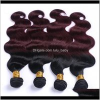 Bulks Productszhifan Wefted Body Wave 1B 99J# Brazilian Extensions Wine Red 100Percent Human Real Hair Weave Sale Drop Delivery 2021 Uoect