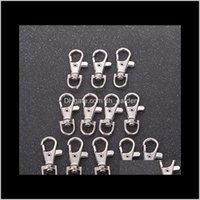 Clesps Ganci Split Clip Clip Hook Fibbia Aragosta Girevole Chiusura Chiave Portachiavi Ringeding Metal Krej3 SDZFW