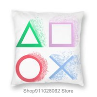 Cushion Decorative Pillow Retro Splash Design PS Gaming Vintage PS5 PS2 PS3 PS4 Xbox Game Station Throw Pillows Covers Cases Velvet Pillowca