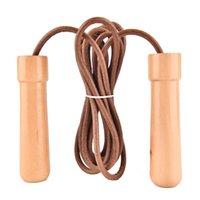 Poignée en bois corde de saut en cuir sautant sauter saut de bille roulement classique vintage en bois 3m 10ft Everlast
