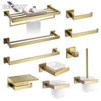 Set di hardware da bagno Golden Matte Accessori per il bagno Set Asciugamani Portabicchieri Portabicchieri Gancio Sapone Brush Brush Accessory