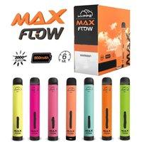 Hyppe max fluxo descartável cigarros pod dispositivo 2000 sopros pré preenchidos 6ml vape 900mAh bateria e cigs