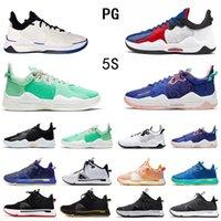 2021 realeased أسود أبيض بول جورج PG 5 V أحذية كرة السلة للرجال كليبرز عالية الجودة ولدت مسحوق أزرق PG5 أحذية رياضية رجالية رياضية 40-46