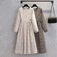 Casual Dresses Women's Clothes Spring And Autumn Fashion Long Floral Dress Women Maxi For Woman