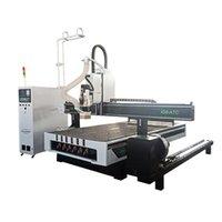 Companheiros elétricos 1325 ATC CNC Roteador 4 Axis Auto Tool Alterar máquina de gravura em madeira com dispositivo rotativo