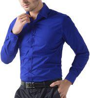 Модный мужской роскошный с длинным рукавом рубашка повседневная стройная подходит стильные топы модные крутые мужские платья рубашки