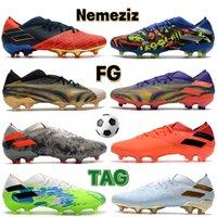 الرجال كرة القدم المرابط أحذية نيمزيز 19.1 منخفضة fg متعدد الألوان فولت رمادي أحمر أبيض الذهب والفضة المعدنية الأسود الأزرق الفاخرة أحذية رجالي أحذية رياضية