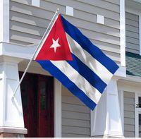 أعلام كوبا كوبية العلم الوطني 3'x5'ft 100d البوليستر جودة عالية مع اثنين من الحلقات النحاسية HWF10787