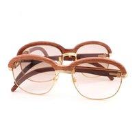 빈티지 나무 선글라스 여성 남자 랩 태양 안경 GAFAS 클럽 및 운전 둥근 맑은 안경 레트로 음영 안경 고글