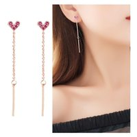 Clip-on & Screw Back Wukaka Fashion Tassel Heart No Piercing Clip Earrings Ear For Woman Without Jewelry