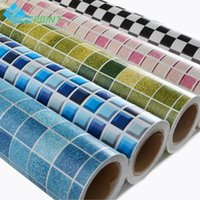 Mosaic Tiles Wallpaper Bathroom Toilet Pool Waterproof Stickers Kitchen Oilproof Wall DIY Self-adhesive Home Decor Wallpapers