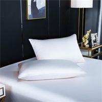 Funda de almohada 100% Naturaleza Mulberry Silk Funda de almohada Cubierta de color sólido para la reina de reina estándar sana personalizable
