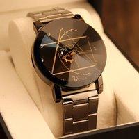 Wristwatches Compass Steel Belt Couple Watch Gear Pointer Dial Men And Women Quartz British Creative Personality Fashion