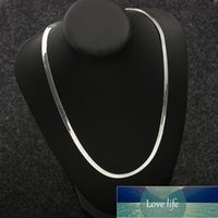 Flat Snake Chain Choker Necklace Jewelry Silver plated color Necklace For Women Men Clavicle Blade Chain Collier Femme Factory price expert design Quality Latest