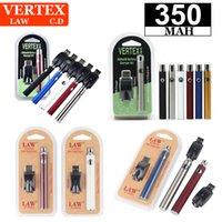 LAW Vertex Co2 VV Preheat Battery Kits LO Oil Vaporizer O Pen 510 Vape Preheating Batteries 350mah BOGO CE3 Cartridge Pens