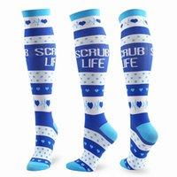 Men's Socks Compression Stocking Women Knee High 20-30mmHg Edema Diabetes Varicose Veins Pregnancy Flight Travel