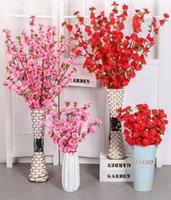 120 سنتيمتر الطول الاصطناعي الكرز الربيع البرقوق الخوخ زهر فرع الحرير زهرة شجرة ل حفل زفاف الديكور الوردي الأبيض أحمر اللون