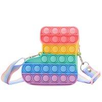 New Fashion Christmas coin Fidget Toy Push Foam Purse Simple dimple anti-stress girl bag children's gift
