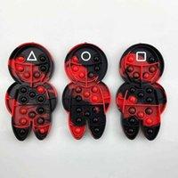 압축 해제 장난감 오징어 게임 팝업 손가락 거품 딤플 퍼즐 어린이 테이블 Shiatsu 장난감 완화 불안 작은 선물 DHL 무료