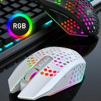 Mice Gaming Mouse Honeycomb Hollow Ergonomically Designed USB Wireless Professional RGB Gamer Rechargeable