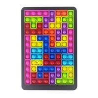 Jigsaw Puzzle Push Pop Bubble Sensory Toy New Tangram Building Block Game Popper Poppet Fiet Toys for KidGQEJ