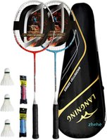 Badminton Rackets Set 2 Full Carbon Fiber Lightweight Home Training
