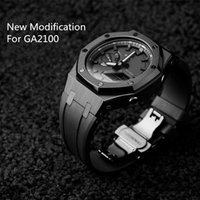 Watch Bands GA2100 Modification 3rd Generation Rubber Watchstrap And Metal Bezel GA-2100 2110 316 Stainless Steel With Tools Screws