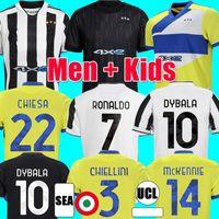 2021 2022 Juventuss Soccer Jersey Locatelli Ronaldo Dybala Morata Chiesa McKennie Football Shirt Men Kids Kit Mailleot Camiseta Futbol 21 22