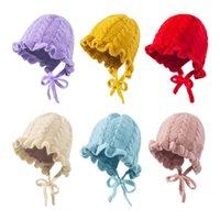 Baby Hats Newborn Caps Toddler Hat Dots Girls Infant Cap Autumn Winter Warm Wool Knitted Beanie Accessories 0-3T B8718