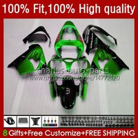 川崎忍者ZX 9R 900 CC ZX9 Green Blk Hot 9 R 98-03 BodyWork Kit 25 No.51 ZX900 ZX900 ZX900 ZX9R 00 01 02 OEM Bodys