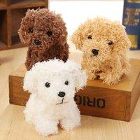 10cm kawaii filhote de cachorro teddy pelúcia brinquedos suaves pelúcia simulação de cão boneca cão bonito brinquedo keychain y0726