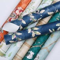 Fallpapers europäische vintage blatt floral tapete selbstkleber nicht gewebt schälen und stick wand kontaktpapier pastorale blume home decor
