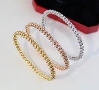Znane marki 925 Sliver European Luksusowa biżuteria dla kobiet Rivets Rivets Rose Gold Bransoletki Moda Party Classic Platinum