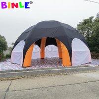 Гигантский павильон надувной пауч-палатка с полным покрытием 1 дверь на молнии 12 м 40ft диаметр события станция мероприятия сбора купола шатер с 8 ногами для продажи