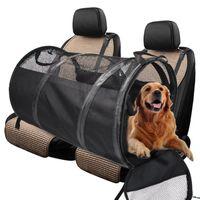 Kennels Pens Auto Pet Bag Bag Carriers Impermeabile Posteriore posteriore Pieghevole Tenda Pieghevole Tenda per veicolo Letto canale per viaggiare
