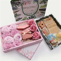 Bolinhos de papel de presente de papel Caixa de bolo de doces com saco de casamento favorecem saco de presente decoração fwf7665