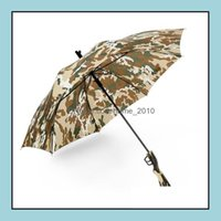 Rain Gear Housekee Organization Home & Gardencamouflage Survival 98K Long Semimatic Folding Sunscreen Fishing Hiking Umbrella Gun Handle Umb