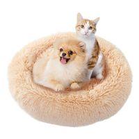 Kennels Bells Pet Dog Dog Bed Largo Peluche Super Soft Kennel Redondo Casa Cat Para Perros Chihuahua Gran Banco Gran Mat Bench Supplies
