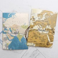 Card Holders Creative Passport Cover Wallet Bag Letter Men Women Pu Leather Id Address Holder Portable Boarding Travel Accessories