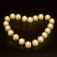12pcs étanche à la LED flamatial de bouleau de Tealight Lampes de thé submersibles Lampe florale Lampe de feu pour vase Décoration de Noël de Noël