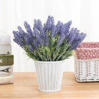 Cabeça Romântico Provence Lavender Flor Artificial para Casamento Casa Tabela Decoração Grãos de Natal Falso Plantas Decorativas Flores Flores